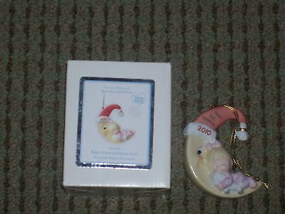 Precious Moments Baby's First Christmas Ornament Girl 2010 New in Box