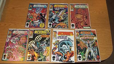Micronauts The New Voyages 1984 Marvel Comic Series # 1,2,3,4,5,8,16 Lot Of 7