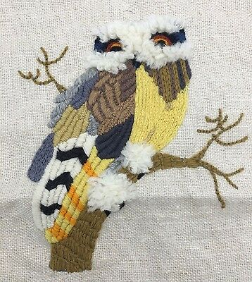 Completed Crewel Vintage Owl Piece by Erica Wilson Unframed No. 6839/1