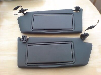 Vauxhall Astra H Mk5 Black Illuminated Drivers & Passenger Sun Visors With Clips