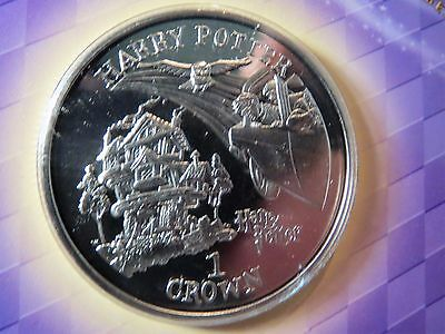 Isle of Man Harry Potter 1 Crown, 2002, Arrive at the Burrow in Flying Car