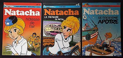 Lot - Natacha - Dupuis Souple - Walthery - Tomes 1, 3 et 6 - Reed.