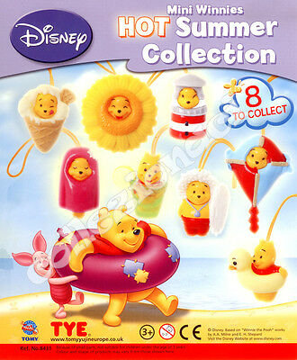 Disney Winnie the Pooh Hot Summer Collection TOMY 8 PEZZI
