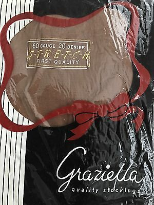 New Vintage Graziella Cuban Heels Seamed Nylon Stockings Size 91/2-10 3 Pairs
