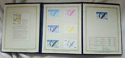 FOUR Progressive Proof Stamp Sets in Presentation Folders, with Certificate