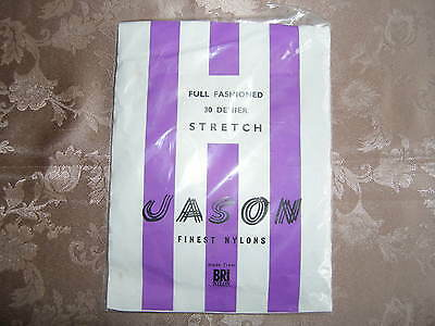 Vintage Jason  Fully Fashioned 30 Denier Seamed Stockings One Pair