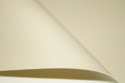 Cream Grained Premium Duty Faux Leather Upholstery Material Leatherette Fabric