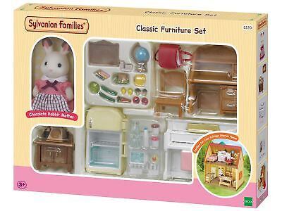 Sylvanian Families Cosy Cottage Doll House Starter Home Set Rabbit Girl Bed Toy