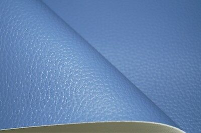 Sky Blue Grain Premium Duty Faux Leather Upholstery Material Leatherette Fabric