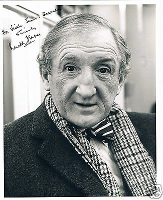 Ronald Fraser British Film and TV actor Hand Signed Photograph 10 x 8