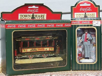 Coca-Cola Town Square Accessories, Lot Of 2, Old Number Sevon, Conductor