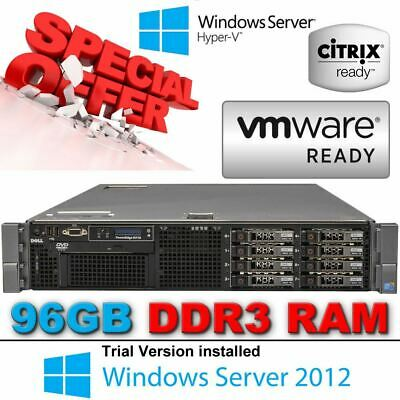 "Dell PowerEdge R710 2x HexCore XEON X5670 2.93GHz 96GB 300GB 2.5"" 10K Enterprise"