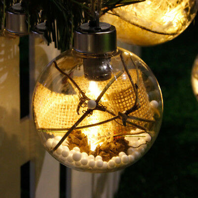 Christmas Tree LED Clear Ball Light Lamp Hanging Ornaments Party Wedding Decor