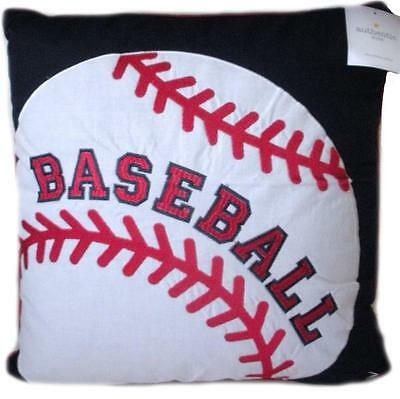 """Baseball Bed Throw Pillow Decorative Bedding Sports New 16"""" Authentic Kids Boys"""