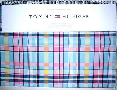 4 Tommy Hilfiger Placemats Cloth Dinner Table Plaid Fabric Rectangle 18x13