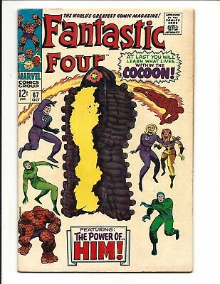 Fantastic Four # 67 (Part Two, Origin Of Him [Warlock], Oct 1967), Vg+