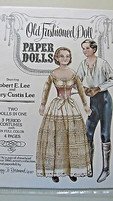 Vintage Robert E. Lee & Wife Paper Dolls & Costumes By Rosamond - Uncut -1977