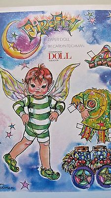 Vintage Fire Fly Boy Paper Doll & Clothes By Carilyn Teichman - Uncut - 1997