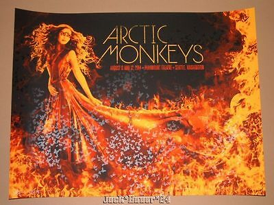 Arctic Monkeys Todd Slater Seattle Poster Print Signed Numbered AE Art