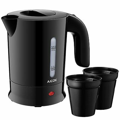 Aicok Travel Kettle, Electric Kettle, Dual Voltage Small Kettle with 2 Cups, and