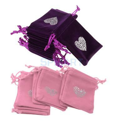 20Pcs Flannel Bags Jewelry Wedding Party Gift Candy Drawstring Pouches 7x9cm