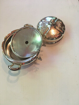 Forbes Silver Co. Quadruple Silver Plated Butter Dish Pattern # 220