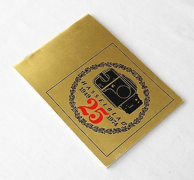Hasselblad 25 Year Anniversary Booklet 1949 - 1974 Minty!