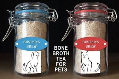 Buster's Brew Bone Broth Tea for Dogs & Cats - Organic All Natural - 1.5 oz Jar