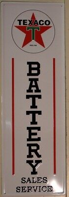TEXACO BATTERY Metal Sign steel embossed large dealer sales style sign gas oil