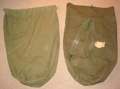 Lot of Two WW2 U.S. Military DUFFLE BAGs,  LOOK