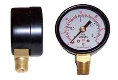 "2-1/2"" Utility Pressure Gauge - Blk.Steel 1/4"" NPT Lower Mnt 0-1500PSI"