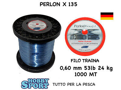 FILO PERLON  mt 1000 X 135 TRAINA BIG GAME 53 LB OMOLOGATO IGFA CLASS mm 0,60
