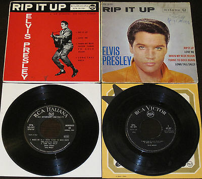 """Elvis RIP IT UP Victor EPA 30-091 Italy only """"Pinto"""" May-1964 EP + Jun-1958 EP !"""