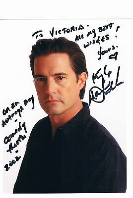 Kyle MacLachlan Actor Film & TV Dune Twin peaks  Hand Signed Photograph 8 x 6