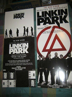 LINKIN PARK-(minutes to midnight)-1 POSTER-2 SIDED-12X30-MINT-RARE