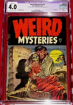 WEIRD MYSTERIES issue 12 CLASSIC Necro-Love cover by Bernard Baily!