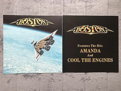 Boston Third Stage RARE promo 12 x 12 poster flat '86