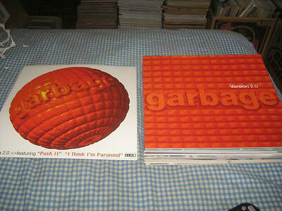 GARBAGE-(version 2.0)-1 POSTER FLAT-2 SIDED-12X12-NMINT-RARE