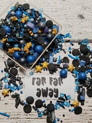 Happy Birthday Mix Cake Decorations Sprinkles Premium Lollipop Pink Blue Green
