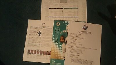 MIAMI DOLPHINS v NEW ORLEANS SAINTS  NFL WEMBLEY 2017 PROGRAMME / MEDIA KIT