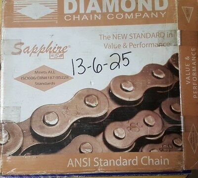 163139 New-Incomplete, Diamond S-SS60-1R-10FT Riveted Chain #60, SS,10' Long