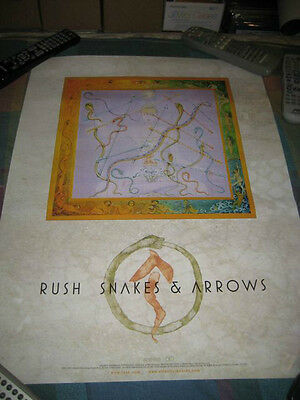 RUSH-(snakes & arrows)-1 POSTER-18X24-NMINT-RARE