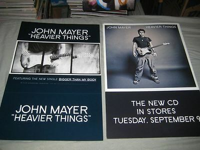 JOHN MAYER-(heavier things)-12X18 POSTER-2 SIDED--RARE-NMINT