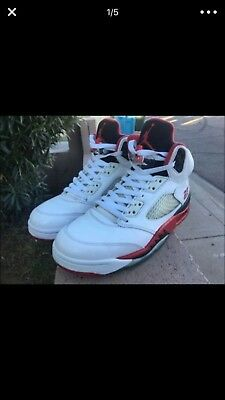 new style 3144c 8693d Air Jordan 5 Retro Fire Red Size 9 Authentic 2013
