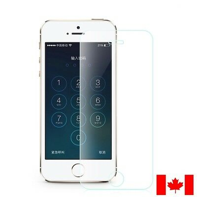 iPhone 5 SE 5C 5S Clear Transparent Premium Tempered Glass Screen Protector