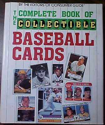 THE COMPLETE BOOK OF COLLECTIBLE BASEBALL CARDS- HC/DJ BOOK 1985 1st EDITION