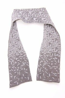 Grey & Silver Double Sided Random Geometrical Print Thick Winter Scarf (S164)