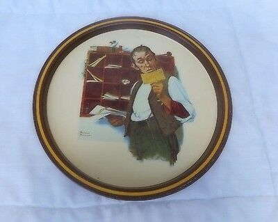 "Vintage 1976 Norman Rockwell 10"" First Limited Edition Postal Collector's Tray"