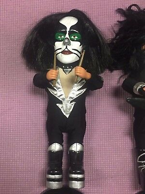 Kiss Sound Alike Peter Criss figure 2004 play music - Gene Simmons Paul Stanley