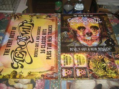 AEROSMITH-(the very best of)-1 POSTER FLAT-2 SIDED-12X18-NINT-RARE